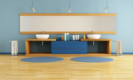 double washstand in a modern bathroom - rendering Stock Photo - 8652054