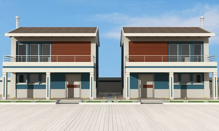 housing project: contemporary Residential complex -exclusive design -rendering