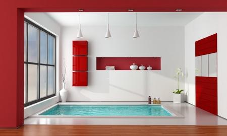 Entzuckend #11149125   Minimalistischen Luxus Badezimmer Wit Große Badewanne    Rendering