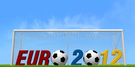 uefa: uefa euro 2012 background for many use -outdoor version- rendering Editorial