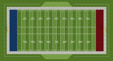 Top view of an american  football field - rendering Stock Photo - 12326626