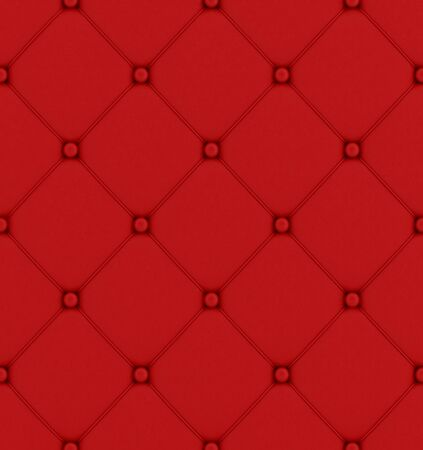 Red  buttoned leather pattern perfectly tileable - rendering photo