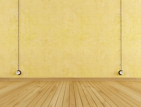 Vintage wall outlets  a empty room - rendering  Stock Photo - 13871940
