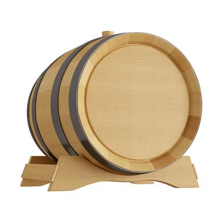 hi resolution: hi resoluci�n de un barril de vino aislado en blanco