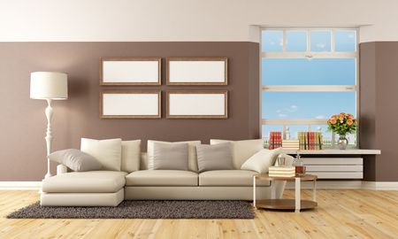 Beige And Brown Modern Living Room   Rendering Photo Part 64