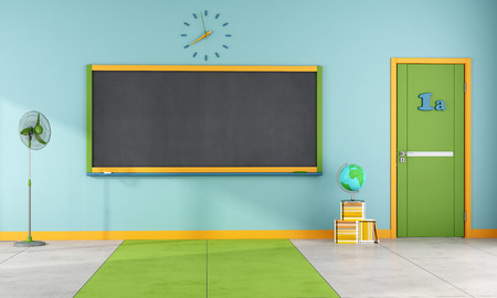 door: Colorful classroom without student and furniture - rendering
