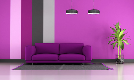 Contemporary Living Room With Black Couch,colorful Cushions And ...