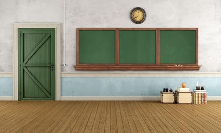 empty classroom: Empty retro classroom