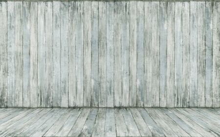 wood paneling: Old room with grunge wood paneling - 3D Rendering