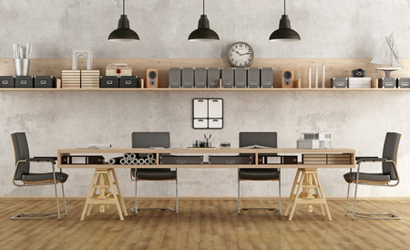 Architecture or engineering  boardroom with in minimalist style- 3d rendering Stok Fotoğraf