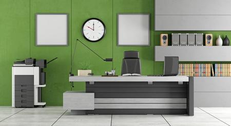 fotocopiadora: Verde y gris de oficina contemporáneo - representación 3d Foto de archivo