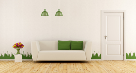sofa modern freshly living room with modern sofaclosed door and grass decoration on - Modern Sofa Kaufen