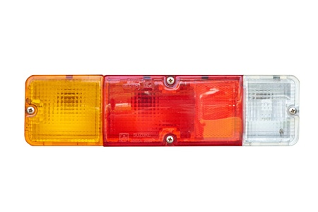 taillight: Car s taillight on white background