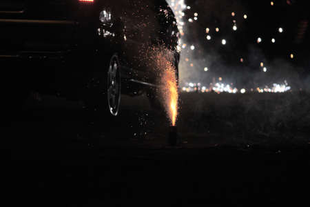 loudness: Fireworks or firecrackers during Diwali or Christmas festival