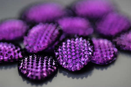 valued: Close up of blue or purple jewel or gem - sapphire type