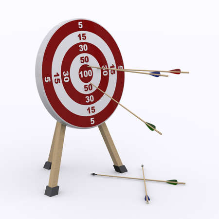 backsight: target and arrows Stock Photo