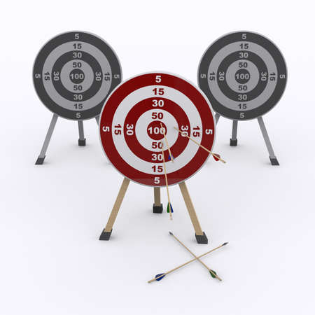 backsight: target and arrows