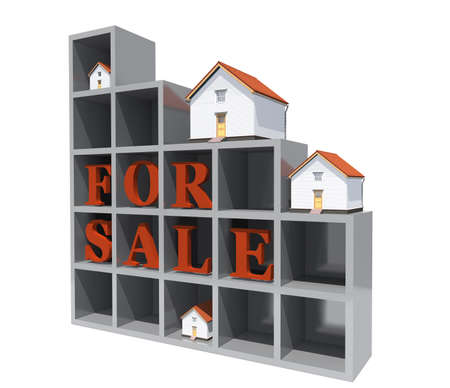 model houses: 3D architecture model houses red for sale with rack isolated in white