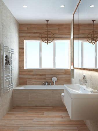 bagno stile moderno con colori pastello per un ufficio o casa ... - Colori Per Bagni Moderni