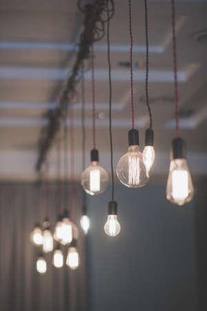 Background bulb light. Nice design for good mood 免版税图像 - 112259763