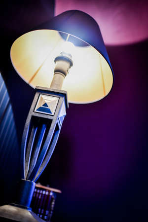 Light bulb at home. Nice light on the wall