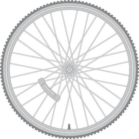 詳細な自転車の車輪  イラスト・ベクター素材