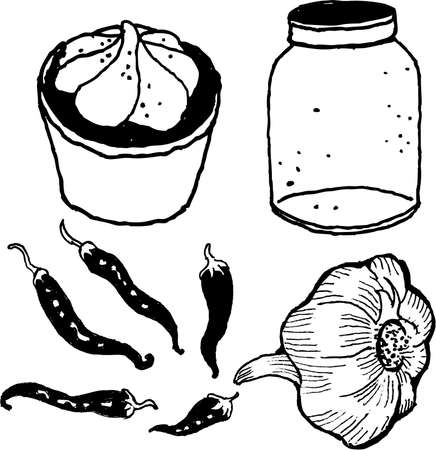 things found in kitchen Illustration