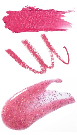smudges: pink make up smears