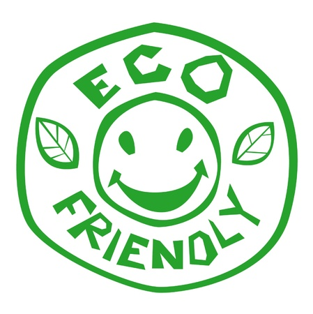 eco friendly green stamp Illustration