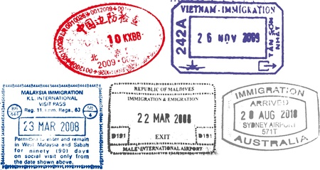 australia stamp: passport stamps