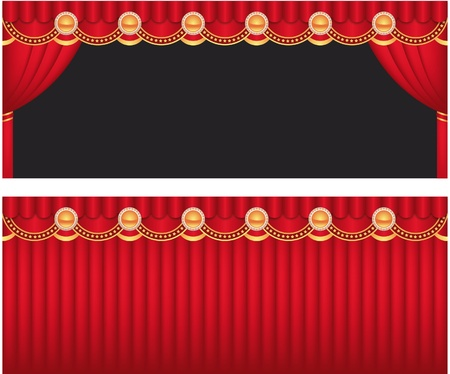 red curtain Stock Vector - 10104273