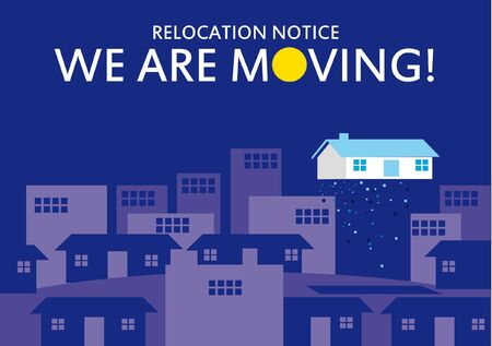 relocating: home moving, office relocation Illustration