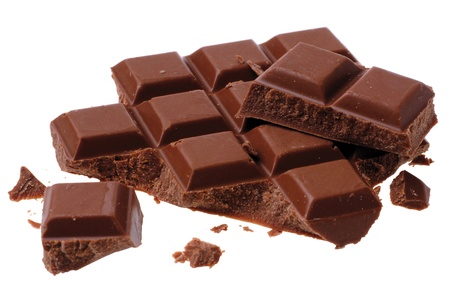 angle bar: broken chocolates Stock Photo