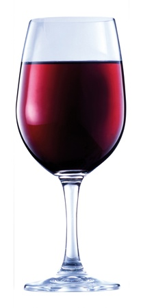 glass of red wine: glass of red wine Stock Photo