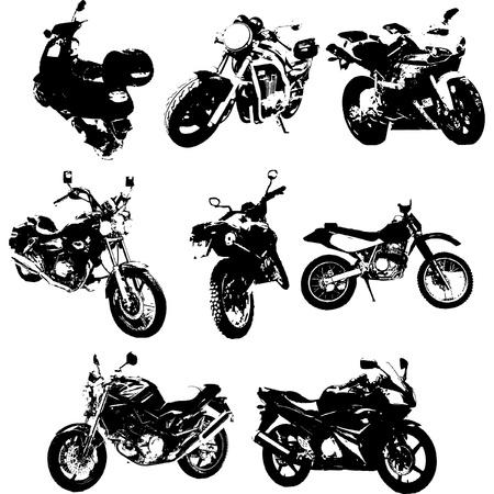オートバイのシルエットのグランジ スタイル