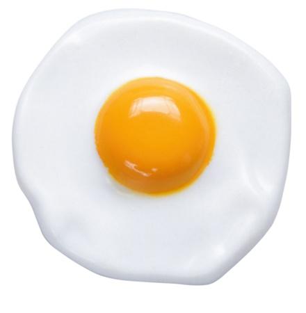 huevos fritos: Sunny Side Up aisladas sobre fondo blanco