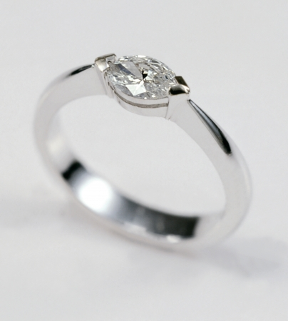 wedding ring made of white gold, soft background