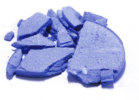 crushed blue eyeshadow makeup sample in white background Stock Photo - 15395557