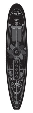 high detailed: surfboard art