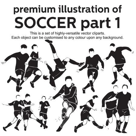 プレミアム イラスト サッカー パート 1  イラスト・ベクター素材