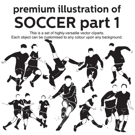 Premium Illustration Soccer Part 1 Vector