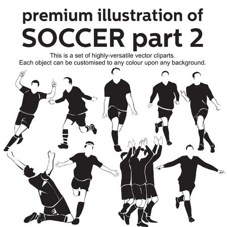 Premium Illustratie Voetbal Deel 2