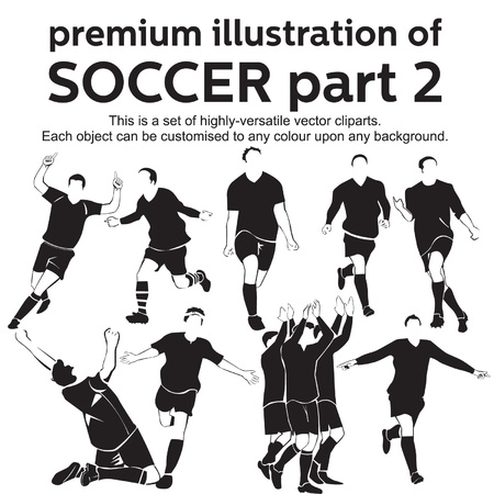 Premium Illustration Soccer Part 2 Vector