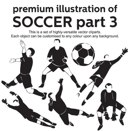 portero: Ilustración de fútbol de primera calidad Parte 3