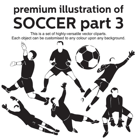 Premium Illustration Soccer Part 3 Vector