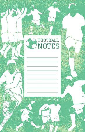 memo pad: football poster