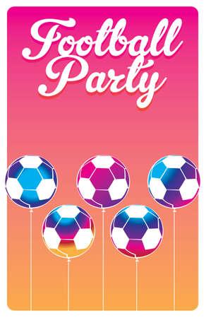 football party: football party invitation