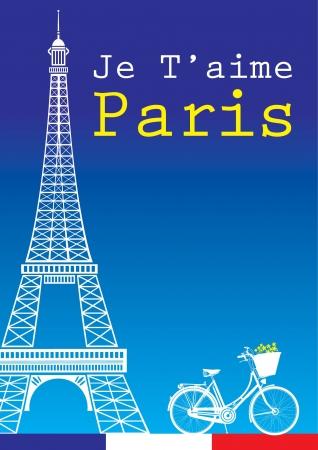 v�lo et de la Tour Eiffel