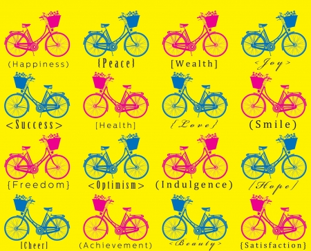 indulgence: bicycle seamless pattern