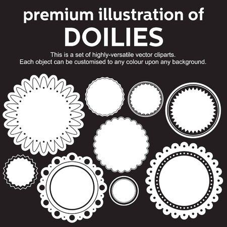 doilies のプレミアム イラスト  イラスト・ベクター素材